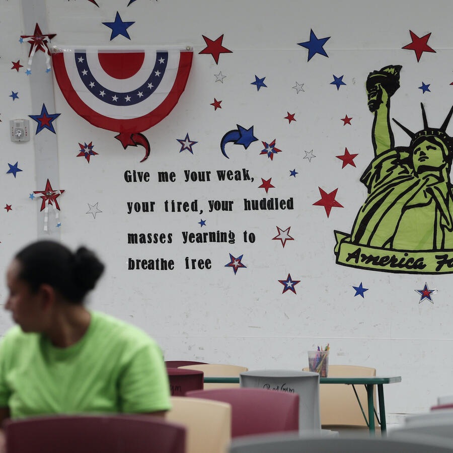 Centro de ICE para familias inmigrantes en Texas, en agosto de 2019.