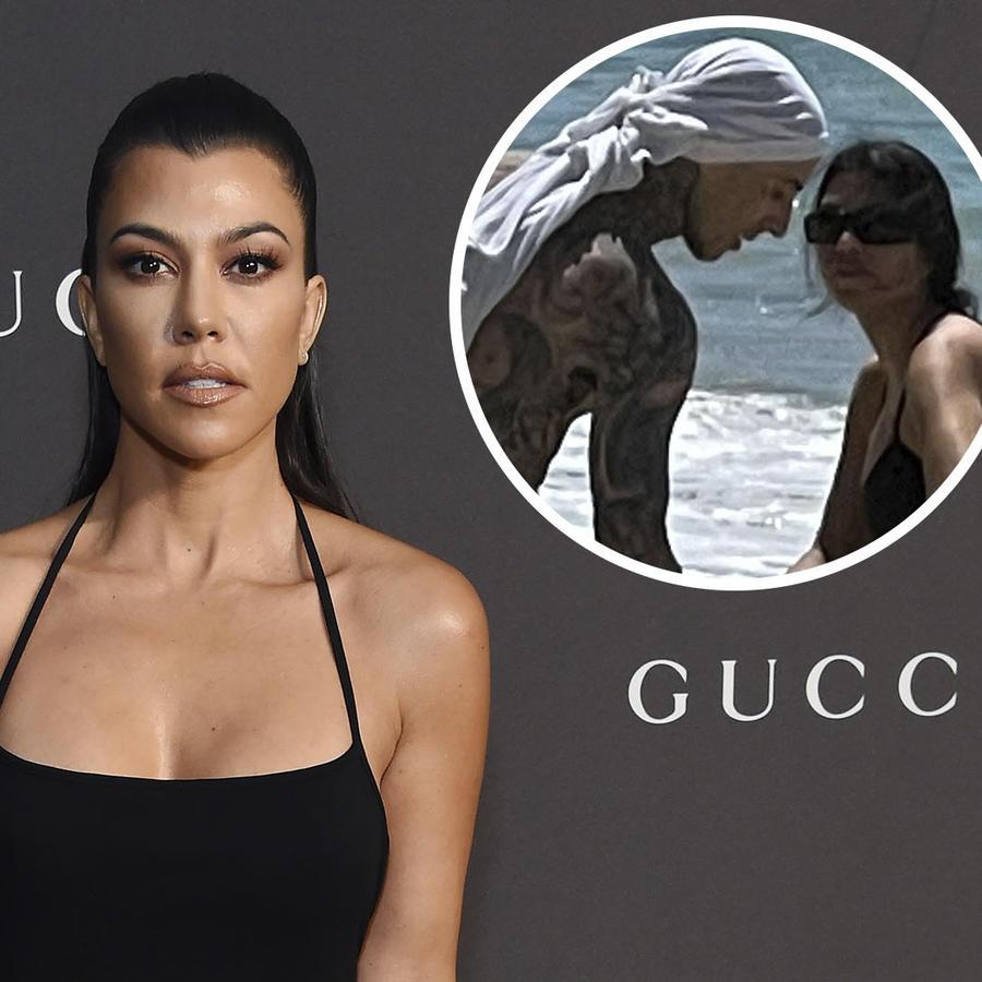 Kourtney Kardashian y Travis Barker, novio