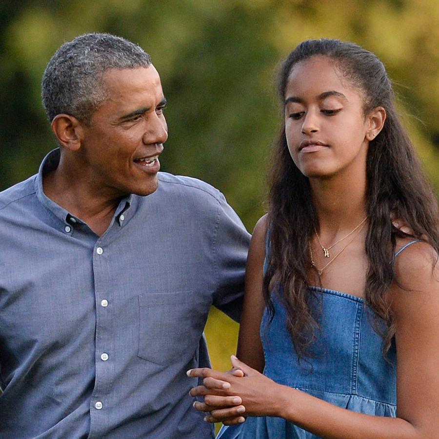 Barack y Malia Obama en la Casa Blanca en 2015