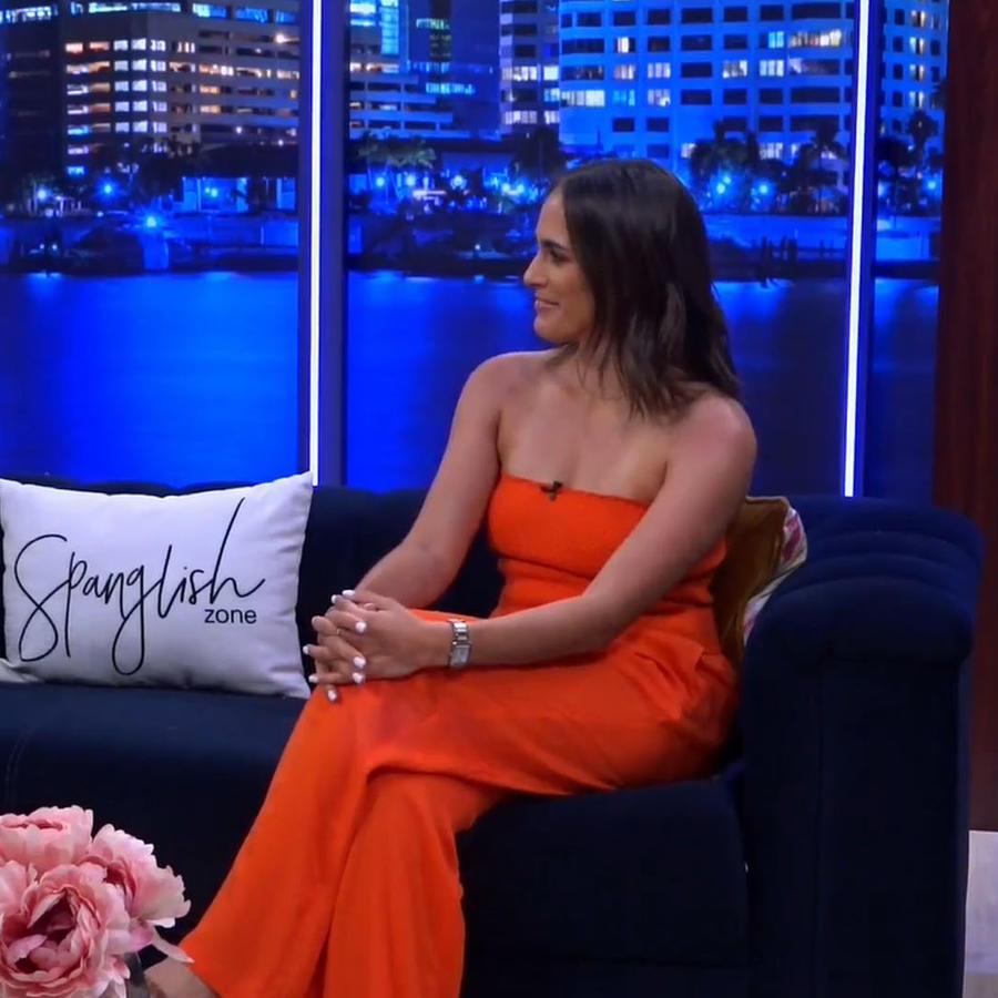 Tenista Monica Puig en entrevista en Latinx Now! de Telemundo