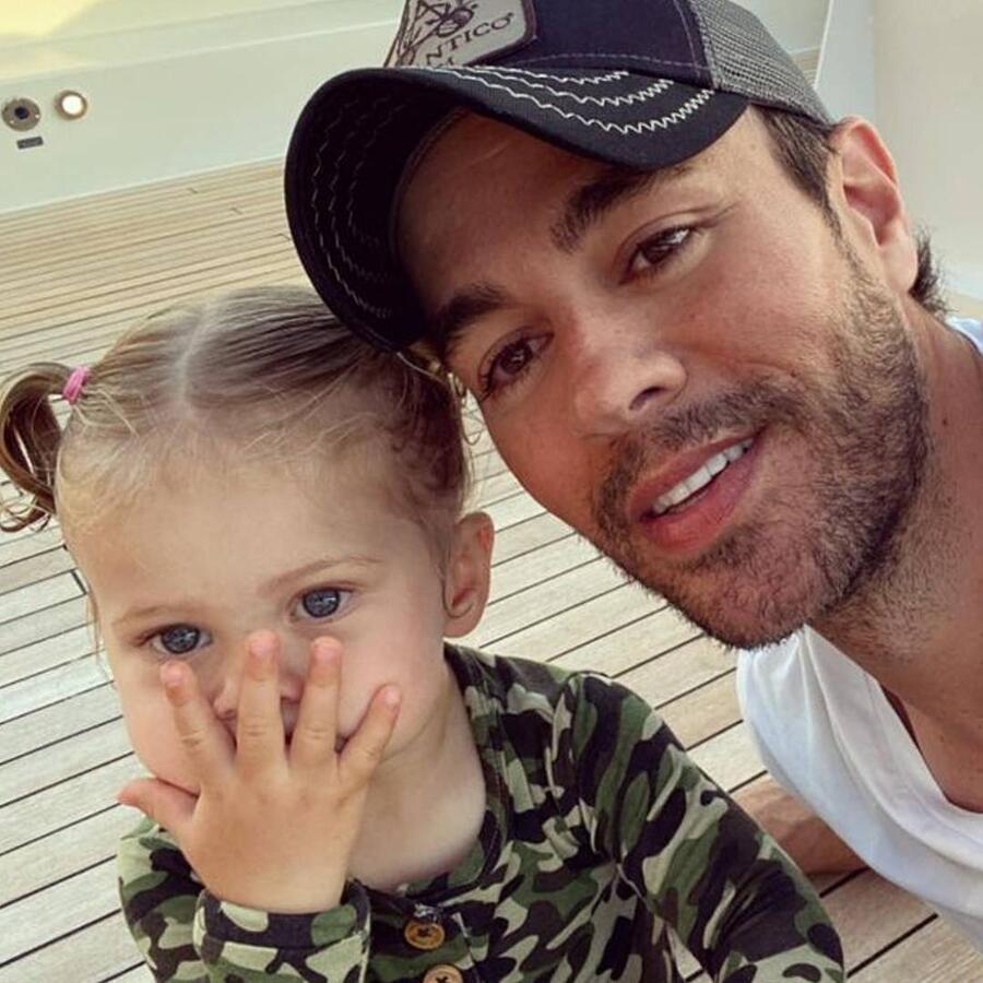 Enrique Iglesias con su hija Mary