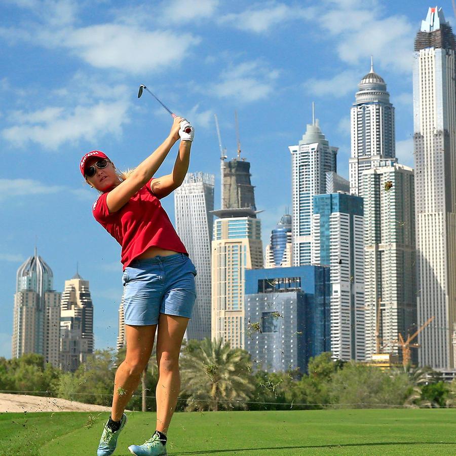 golfista jugando
