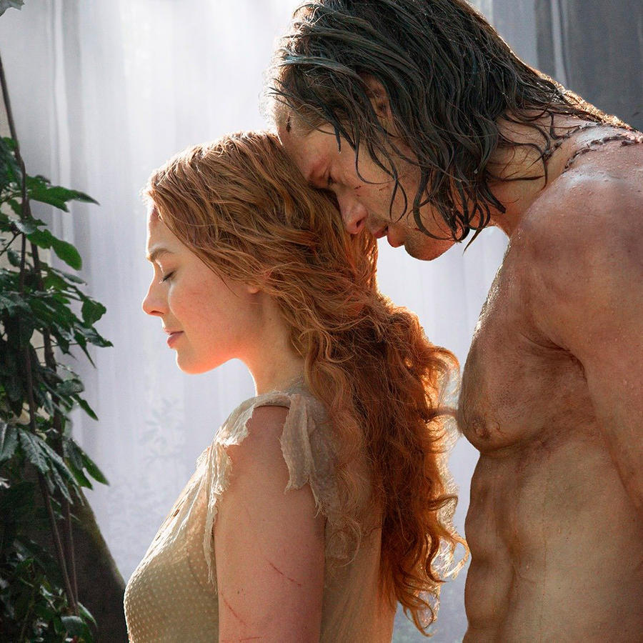 Alexander Skarsgård como Tarzán y Margot Robbie como Jane en una escena de la película La Leyenda de Tarzán (2016)