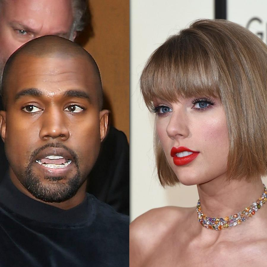 Taylor Swift, Kim Kardashian y Kanye West