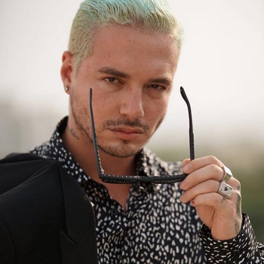 J Balvin color de pelo foto de Instagram