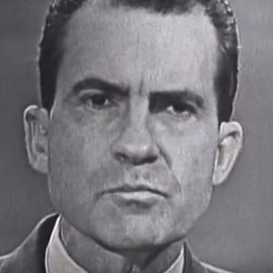 Richard Nixon en el primer debate presidencial televisado, 1960