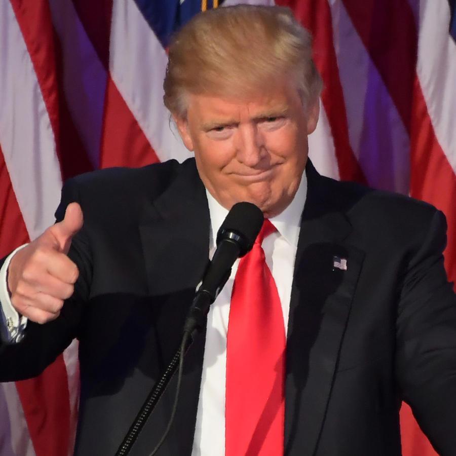 Donald Trump tras confirmarse como presidente electo de EEUU