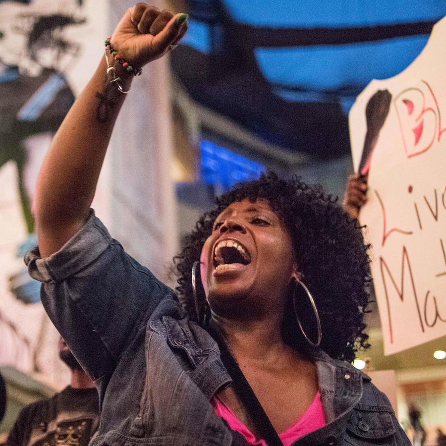 Protesta de Black Lives Matter en Charlotte