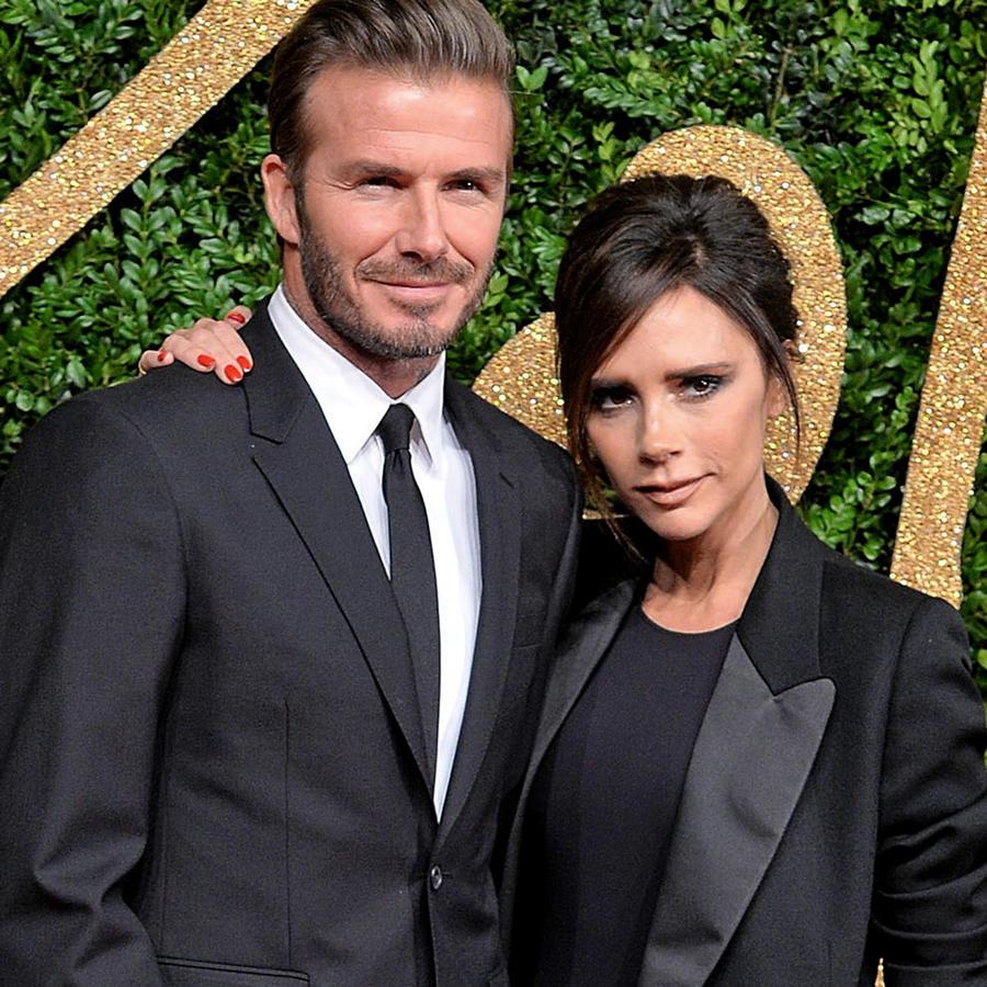 David Beckham y Victoria Beckham en un evento en Londres en 2015.