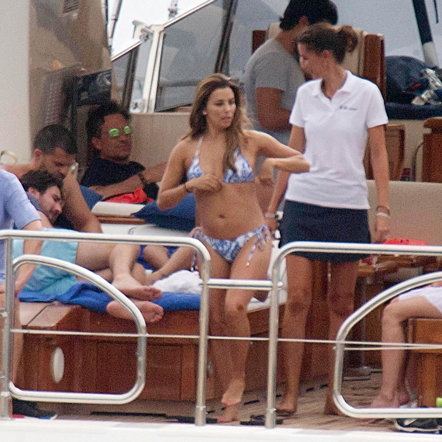 Eva Longoria en la playa de Mallorca