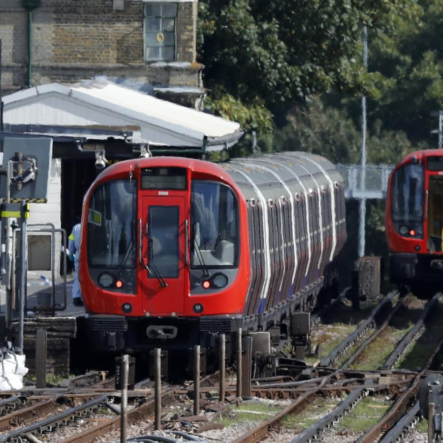Uno de los trenes del metro de Londres donde hoy se perpetró ataque terrorista