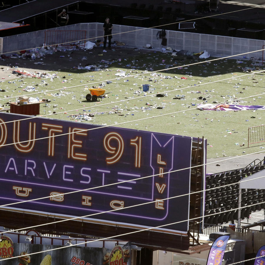 Lugar del concierto en Las Vegas donde se produjo la masacre