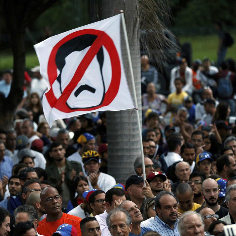 Imagen de una manfiestación venezolana contra el presidente Maduro.