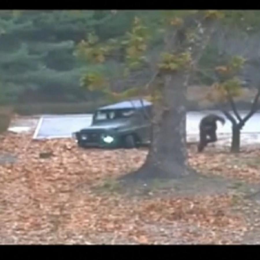 El soldado norcoreano antes de llegar a Corea del Sur.