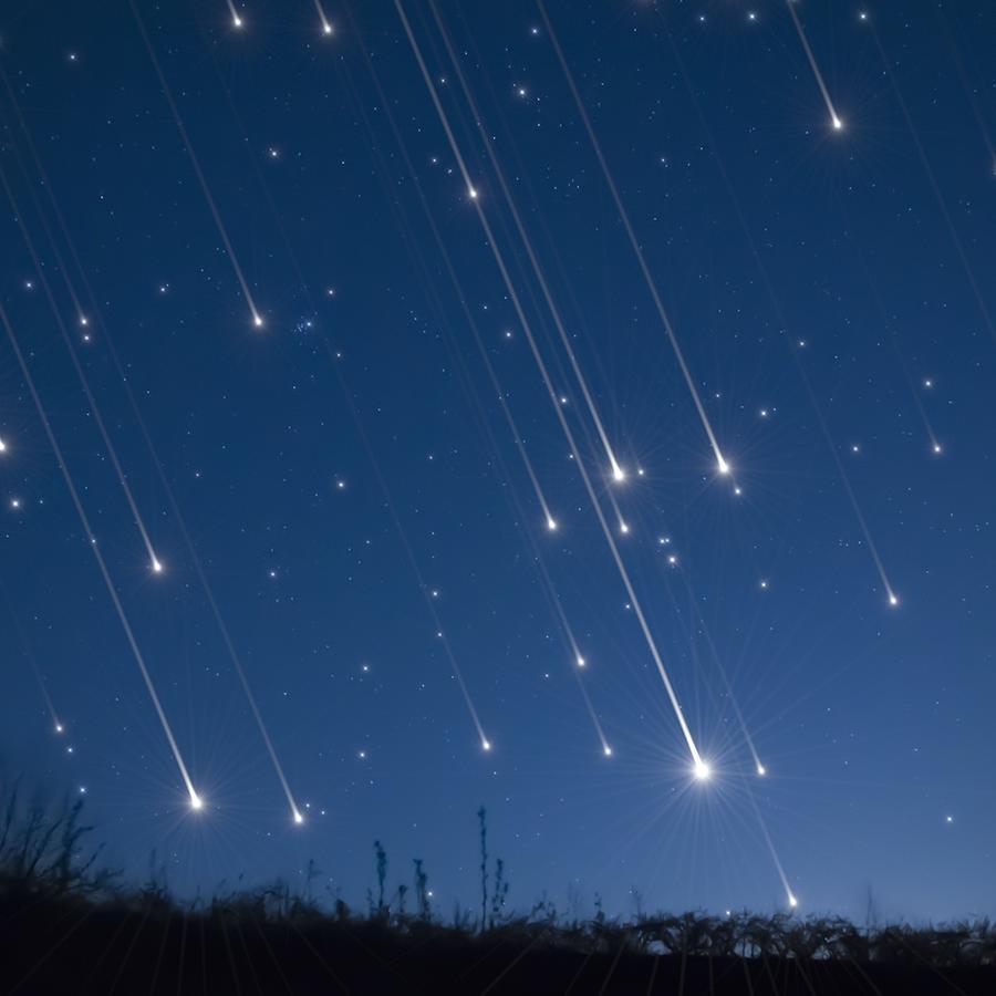 Lluvia de meteoros brillantes