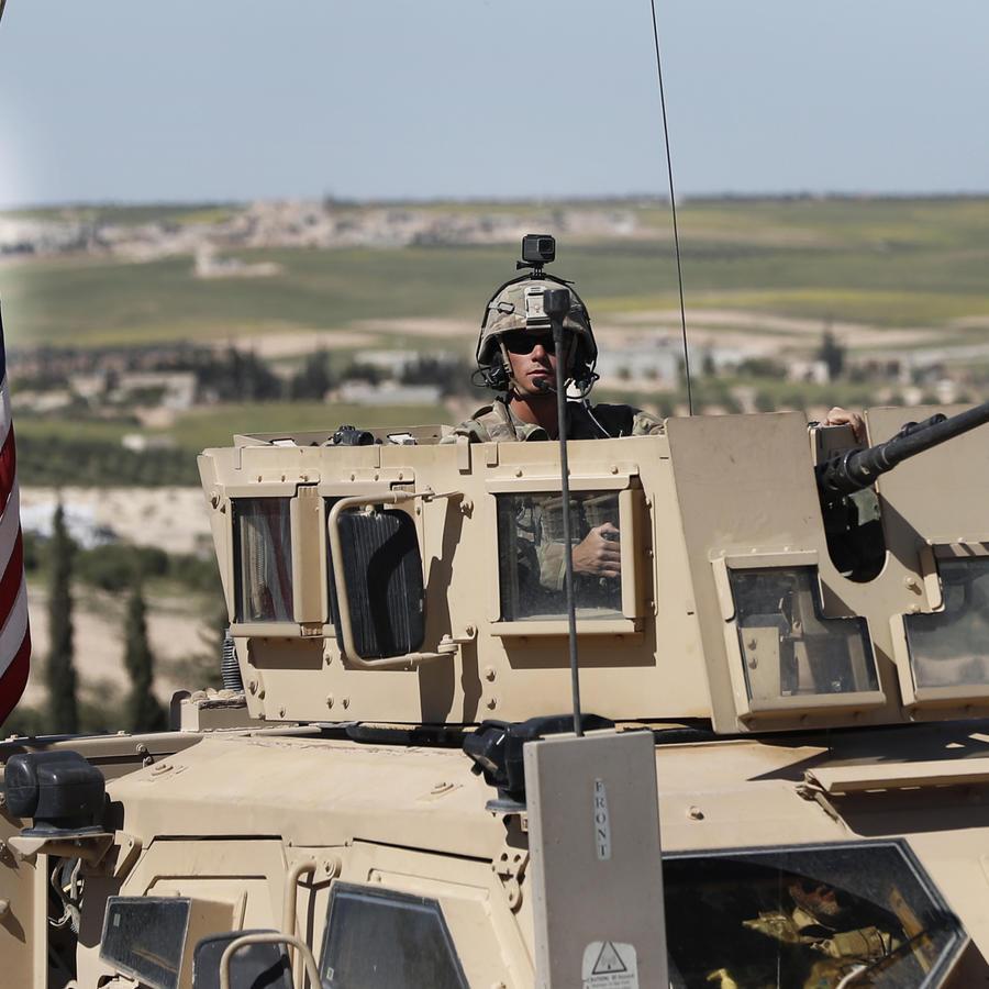 Tropas estadounidenses en Siria.