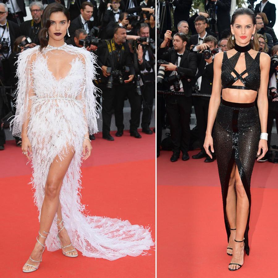 Alessandra Ambrosio, Sara Sampaio e Izabel Goulart en Cannes 2018
