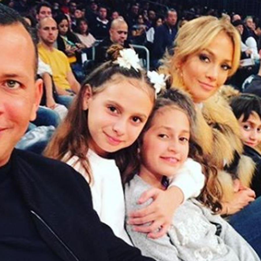Alex Rodriguez con Jennifer Lopez y sus hijos