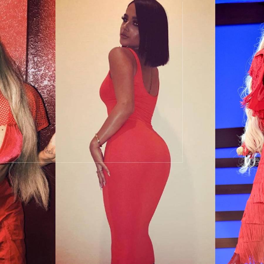 Collage Becky G, Karol G y Cardi B