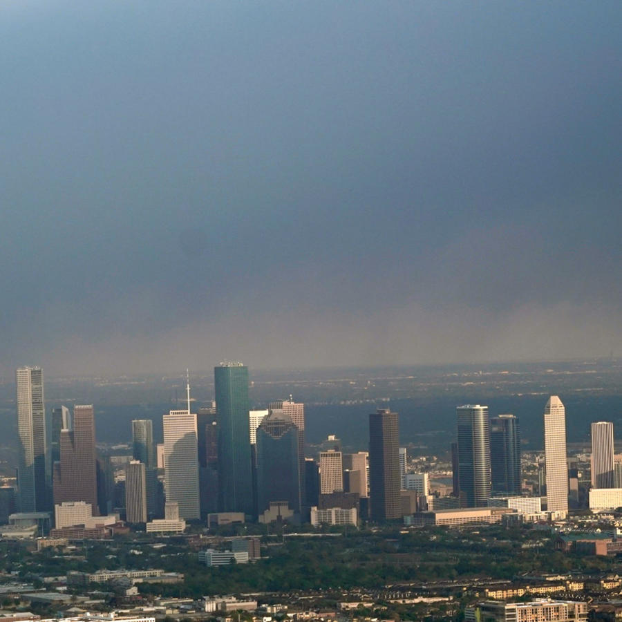 Aire contaminado en la ciudad de Houston en Texas