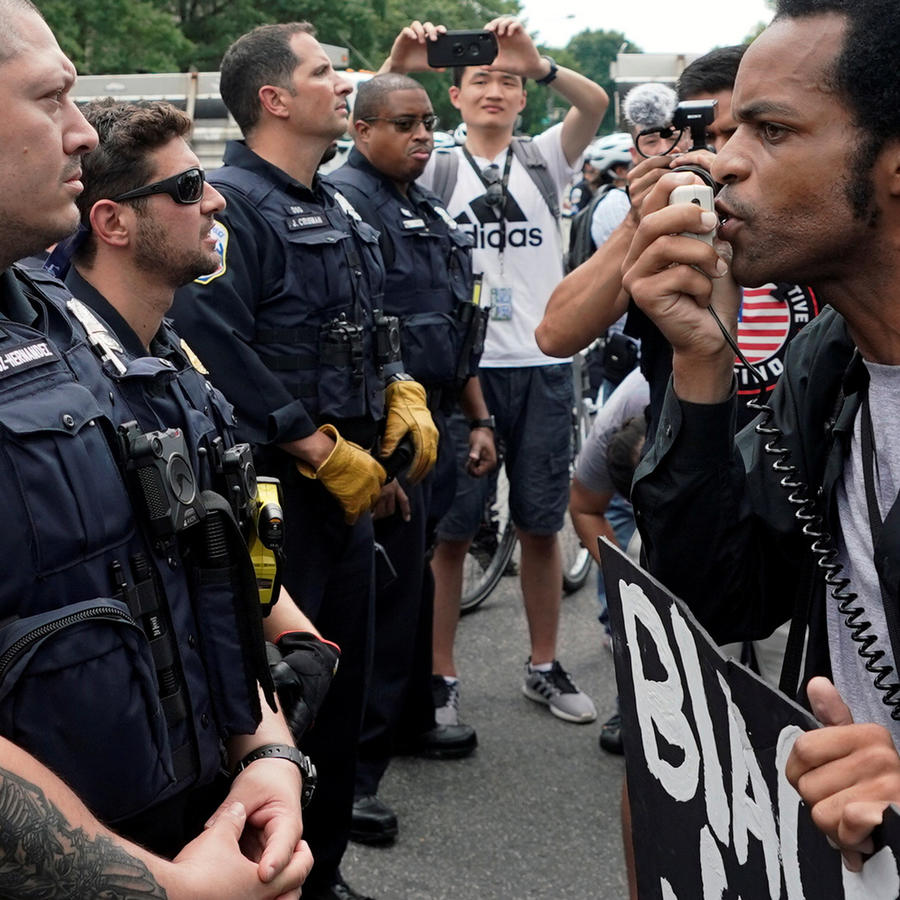Protestas en el corazón de Washington hoy