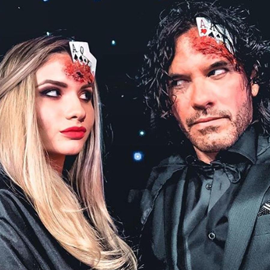 Mario Cimarro y su novia Broni