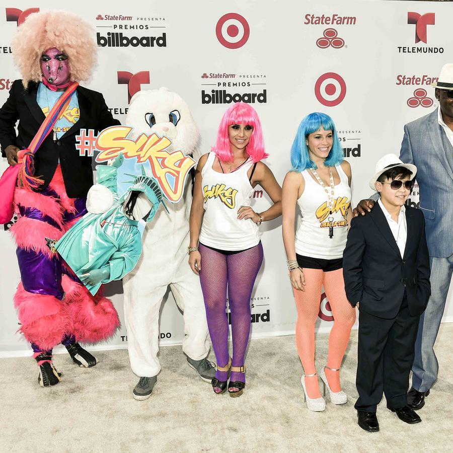 Tomas diaz En la alfombra blanca de Premios Billboard 2015