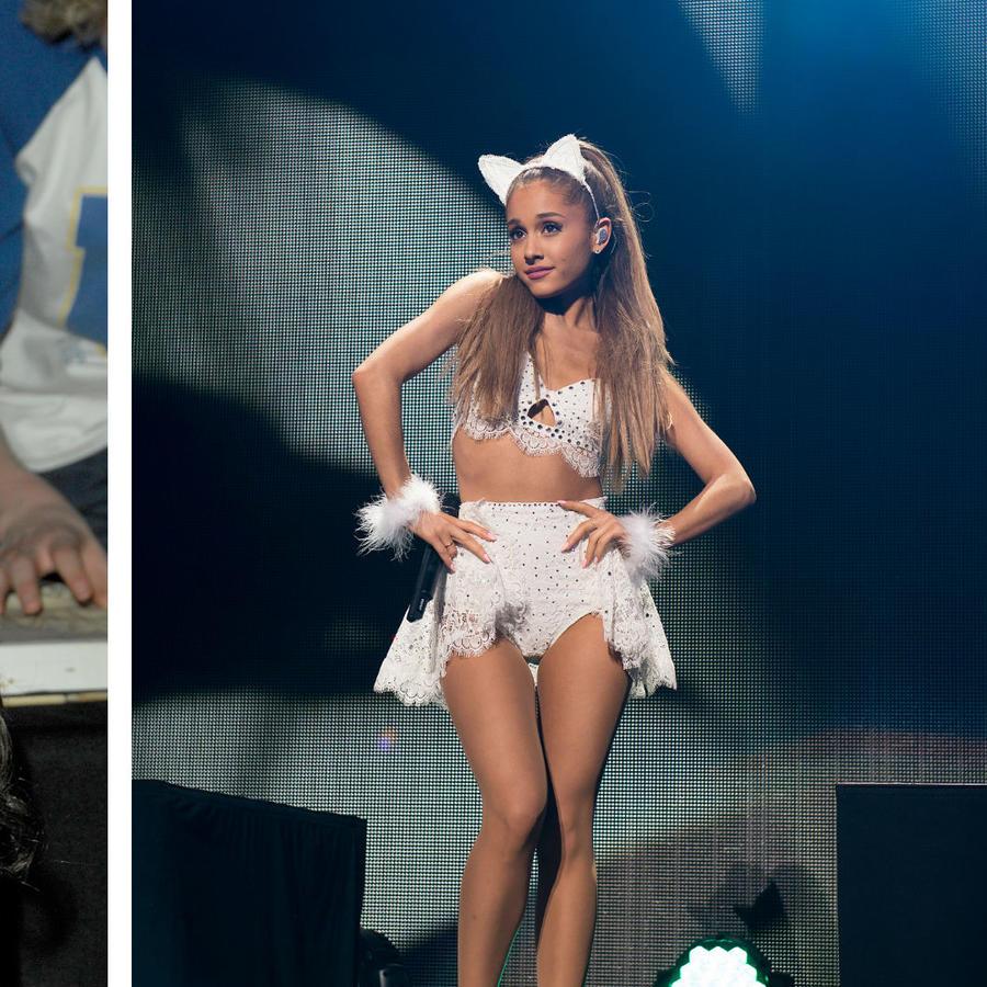 Collage Ariana Grande en 2008 y 2014