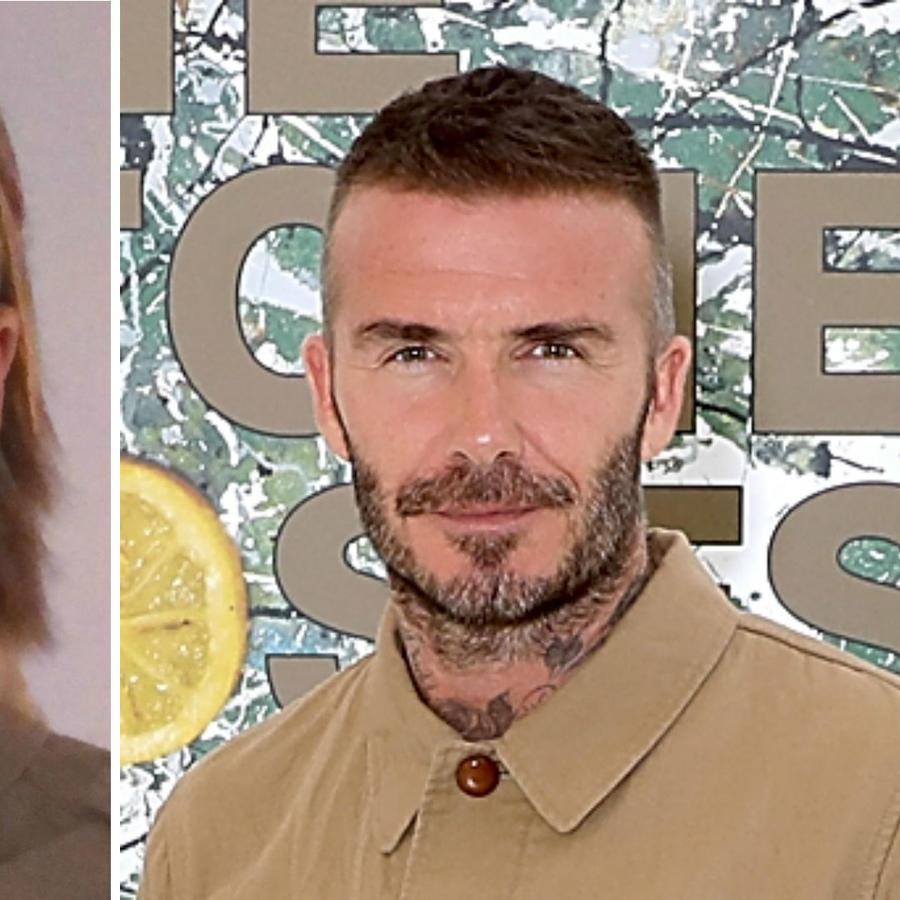 David Beckham con su doble