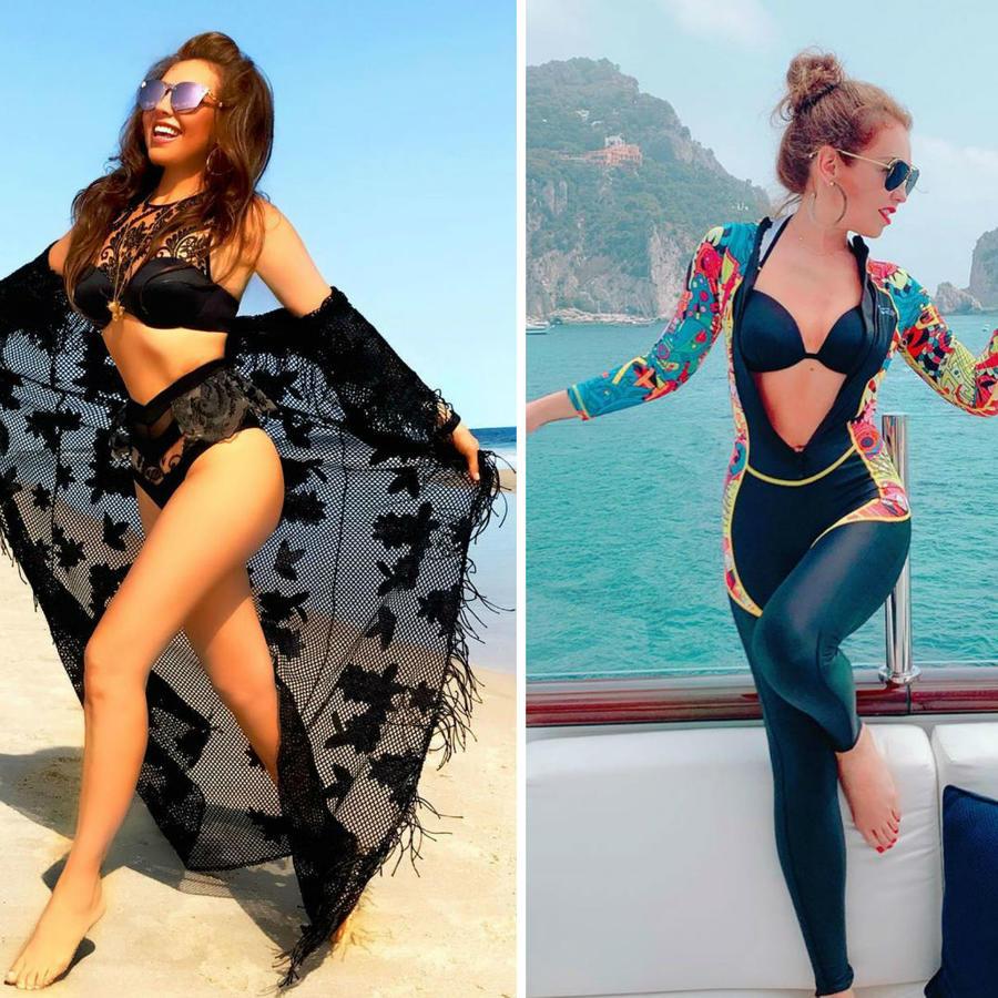 Thalía en bikini
