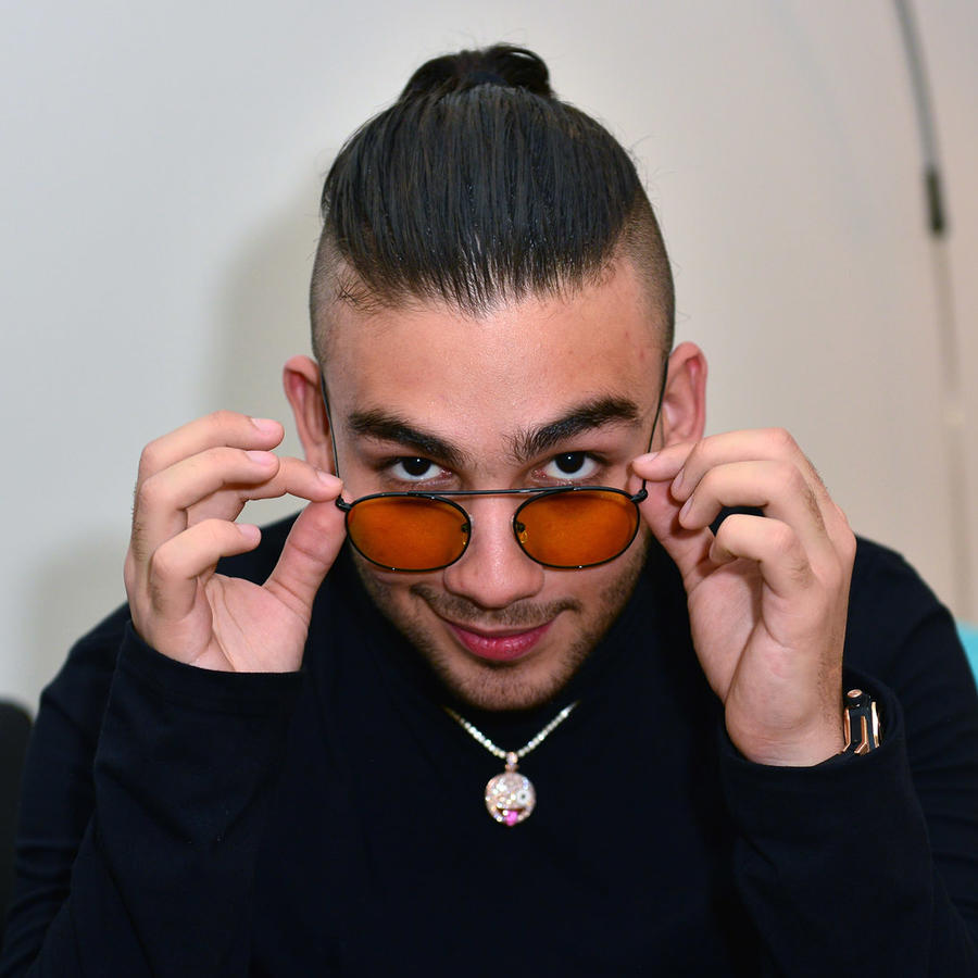 Manuel Turizo en el backstage de un concierto en Miami, Florida