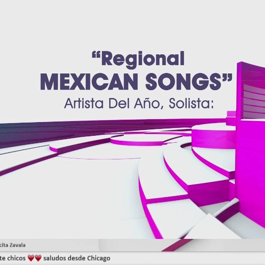 Regional Mexican Songs, Artista del Año Solista