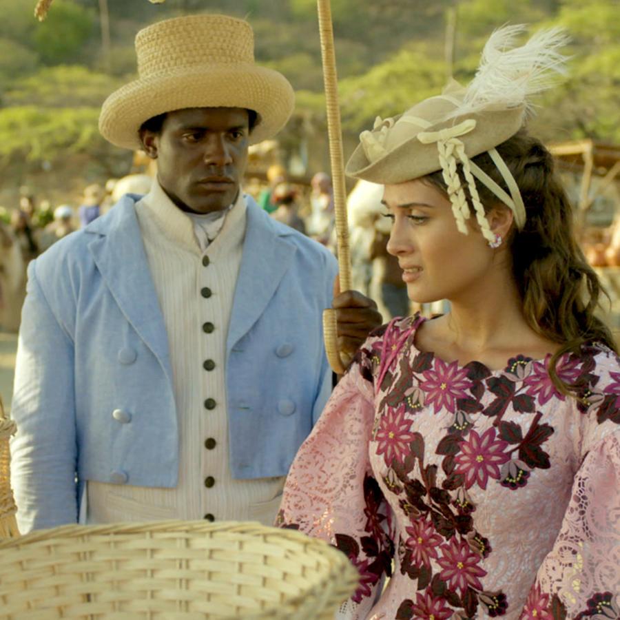 Nerea Camacho y Orian Suarez en La Esclava Blanca