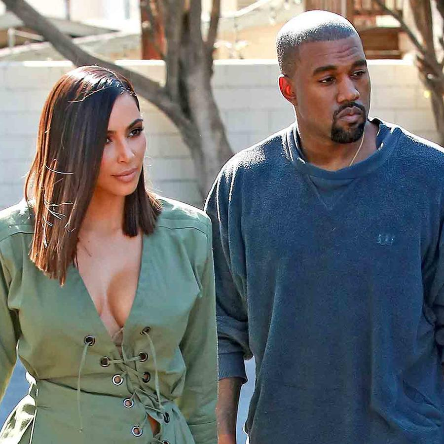 Kim Kardashian y Kanye West en West Hollywood