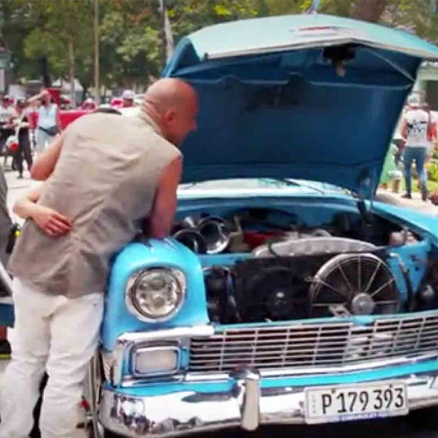 "Vin Diesel en Cuba grabando ""Fate of the Furious"""