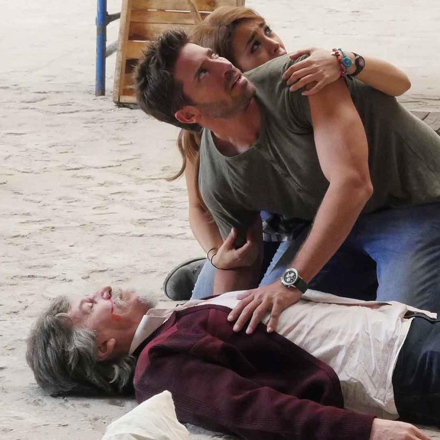 David Chocarro, Danna Paola y Rafael Sanchez en La Doña