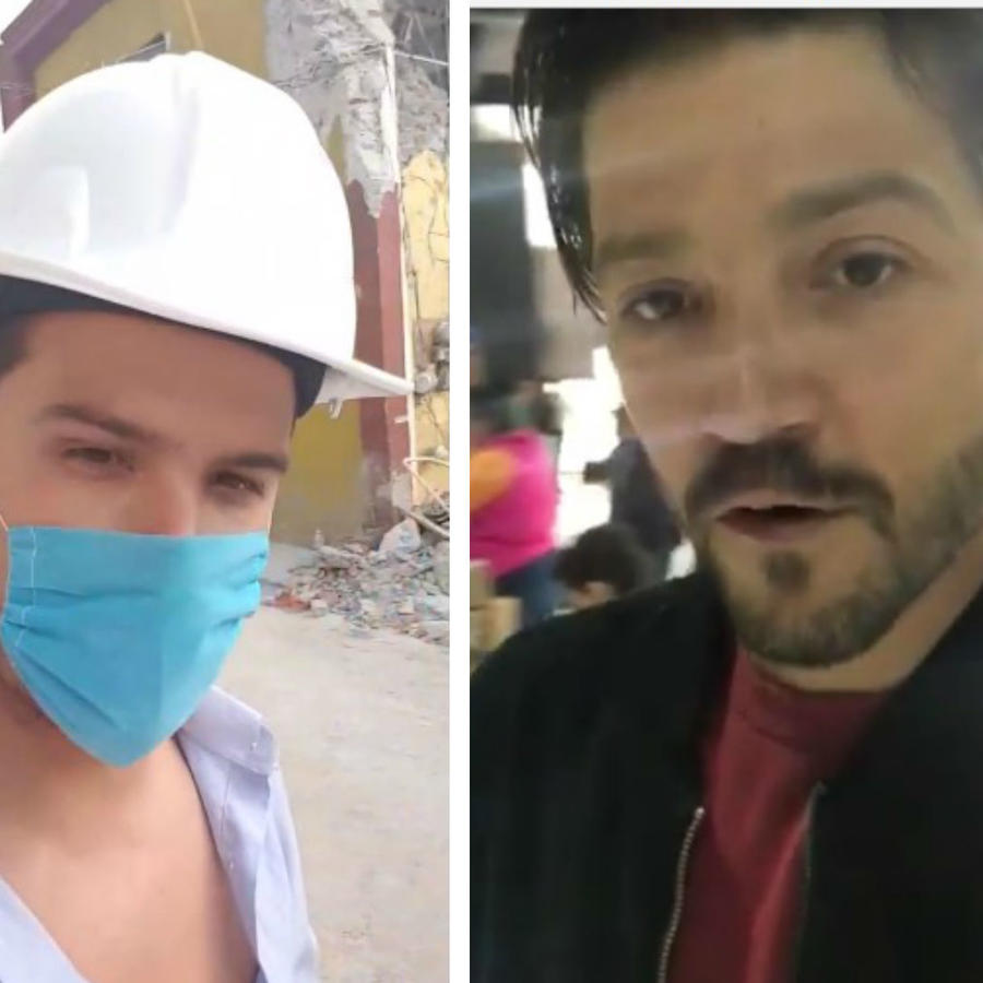 Collage, famosos trabajando como voluntarios en México