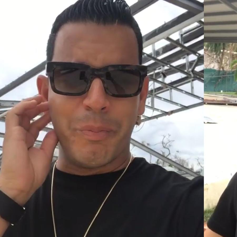 Tito El Bambino rompió en llanto por el paso del huracán