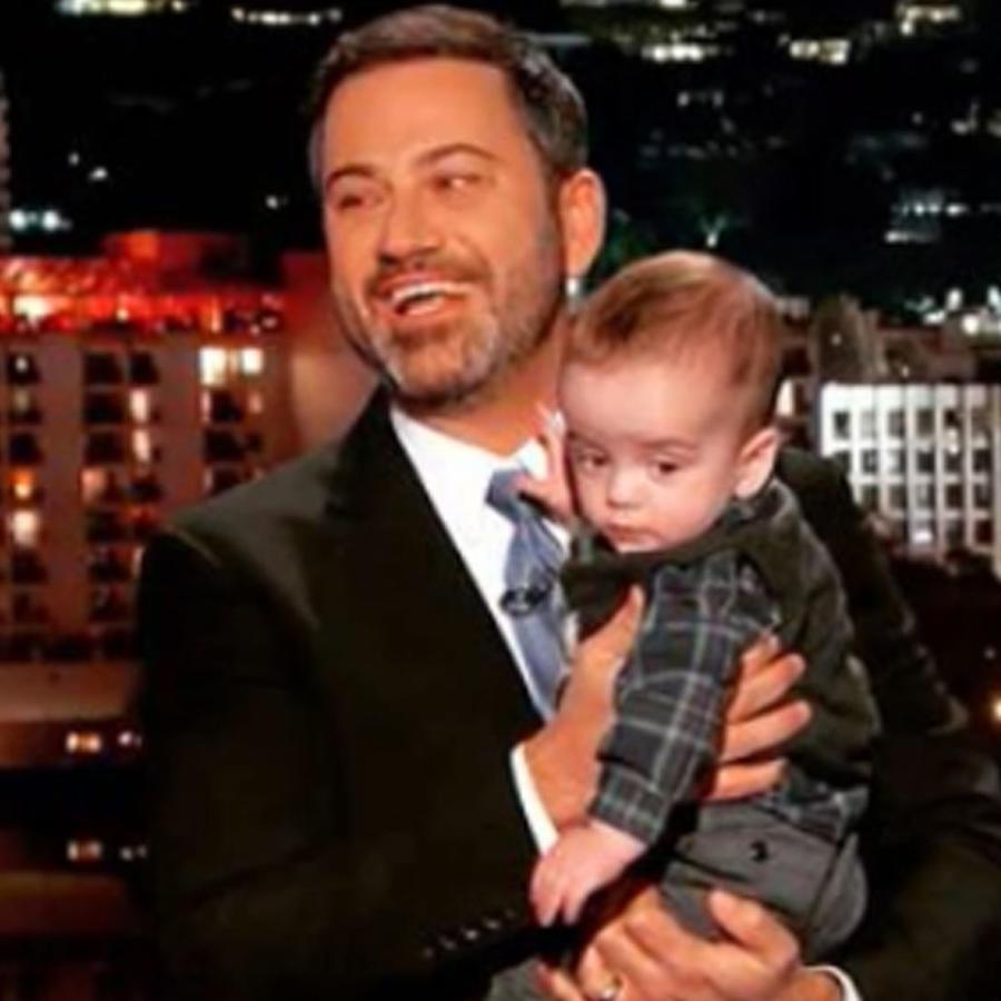 Jimmy Kimmel y su hijo