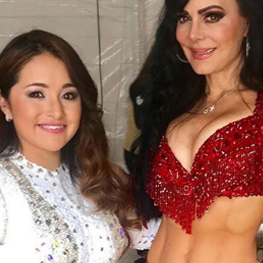 Rubí Ibarra ya canta, y Maribel Guardia fue su madrina