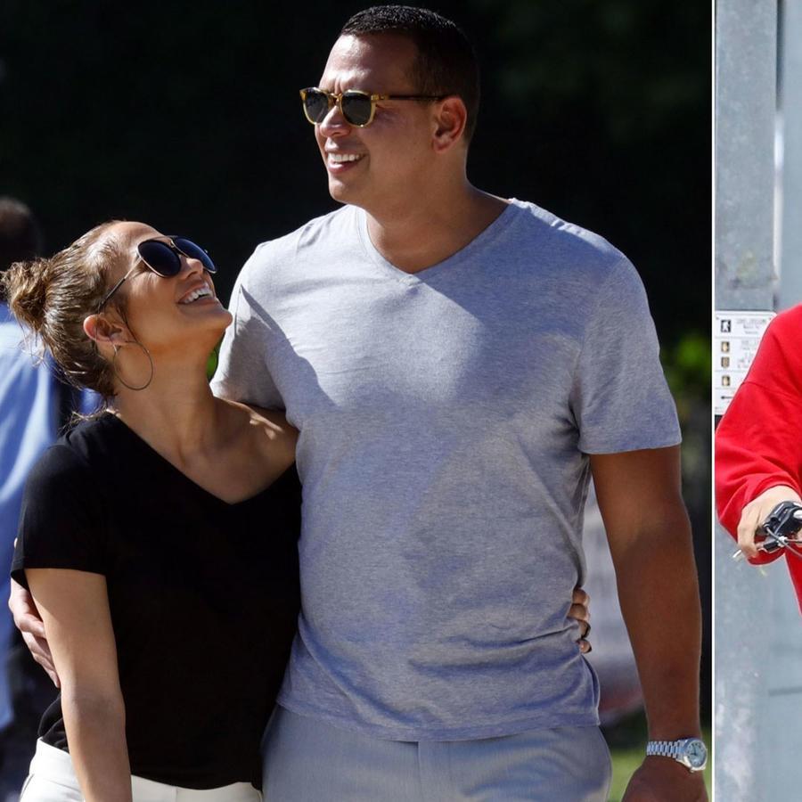 Jennifer Lopez con Alex Rodriguez y Selena Gomez con Justin Bieber