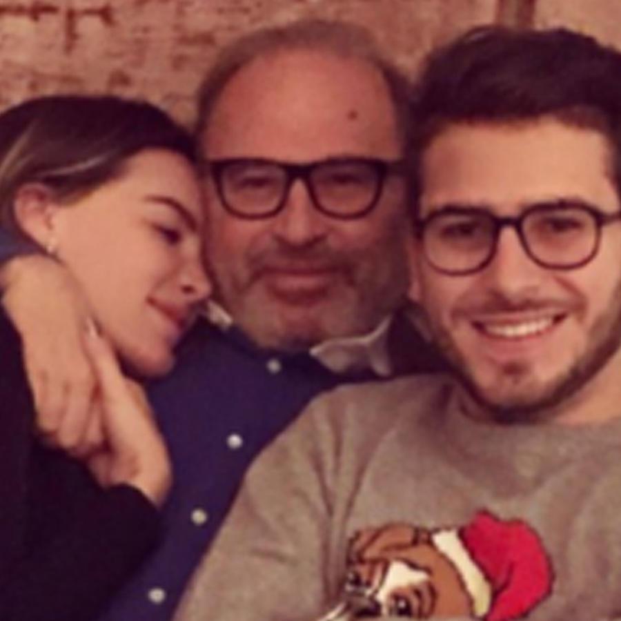 Belinda con su papá y hermano