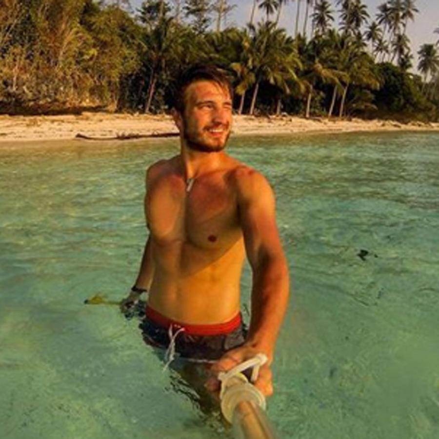 Robert Ligtvoet en el mar