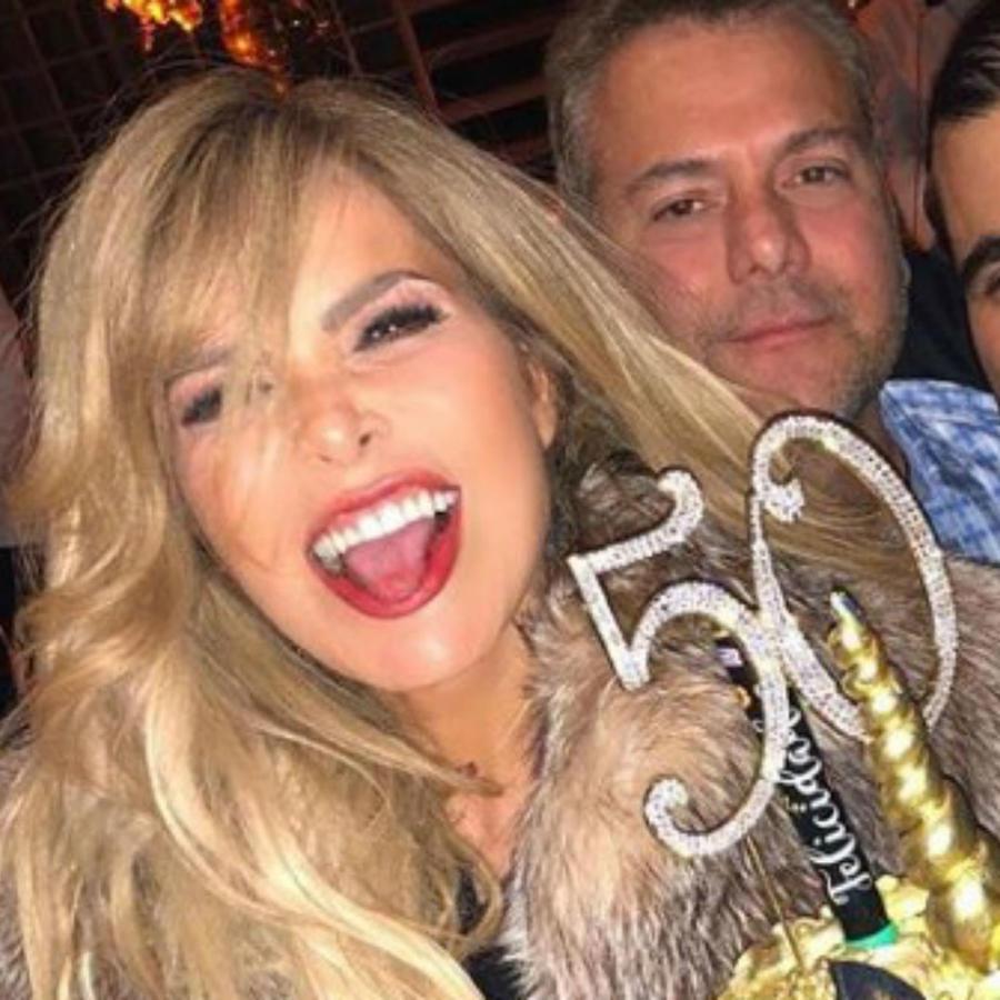 Gloria Trejo en su fiesta de cumpleaños