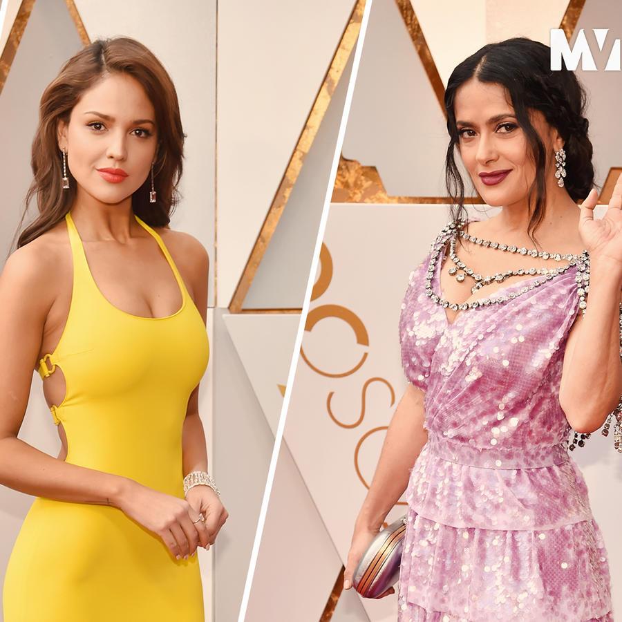 Gael García, Eiza González, Salma Hayek at the 2018 Oscars