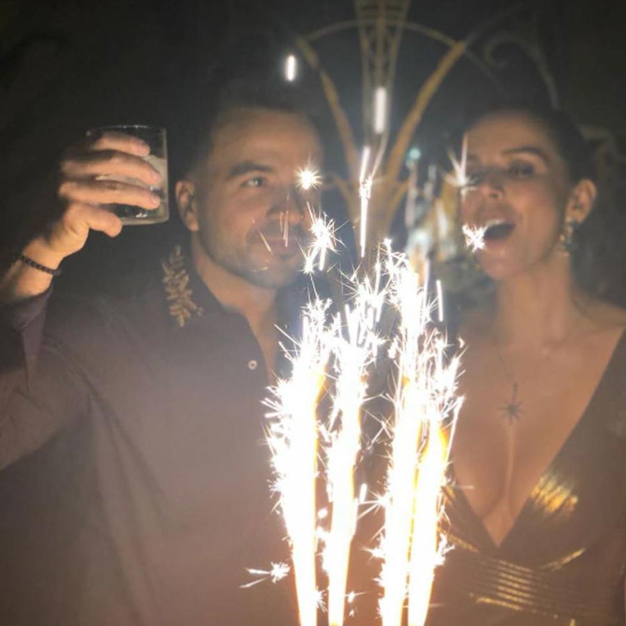 Luis Fonsi celebrando su cumpleaños