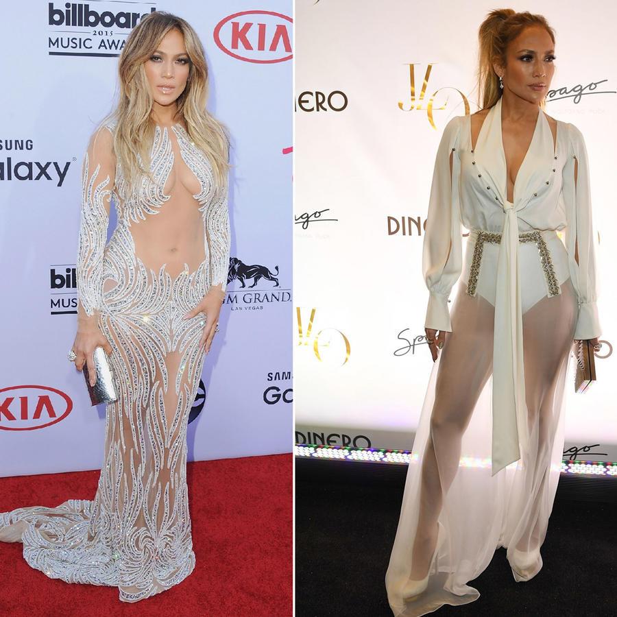 Jennifer Lopez looks de transparencias