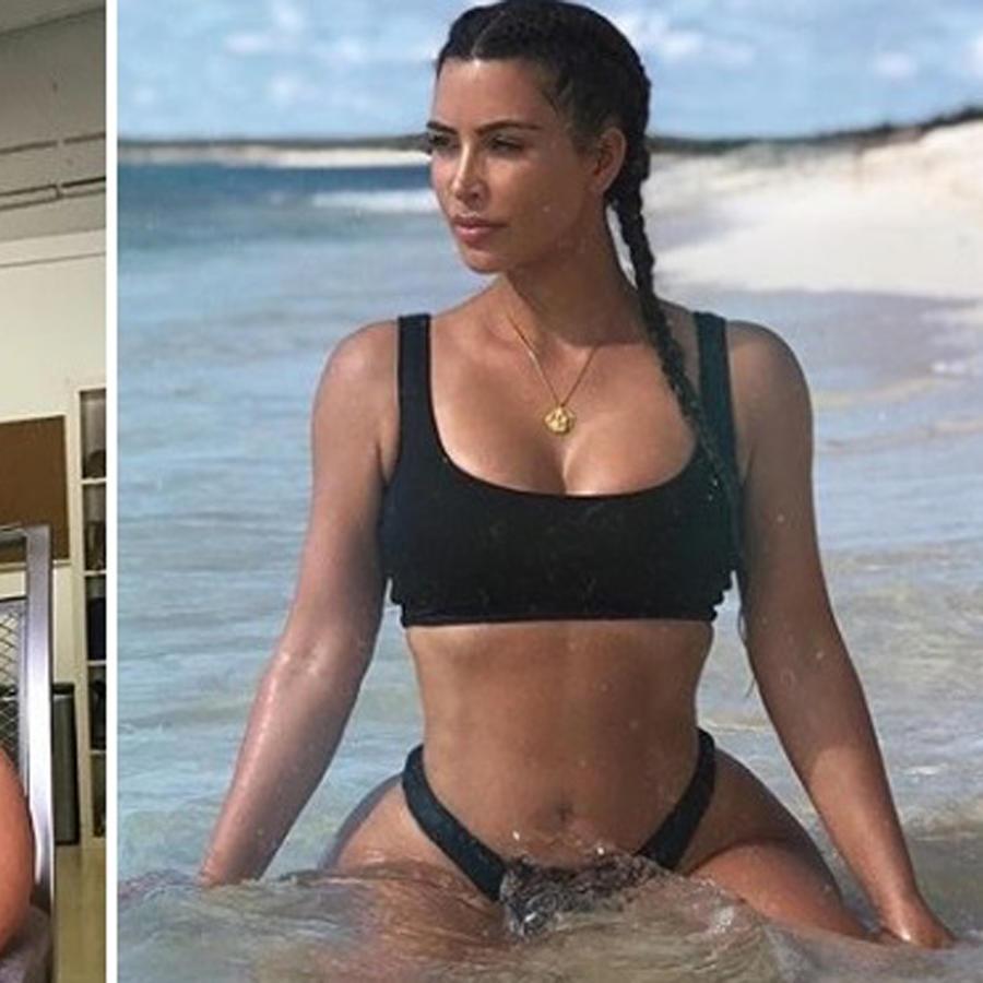 Conoce a la sexy doble de Kim Kardashian