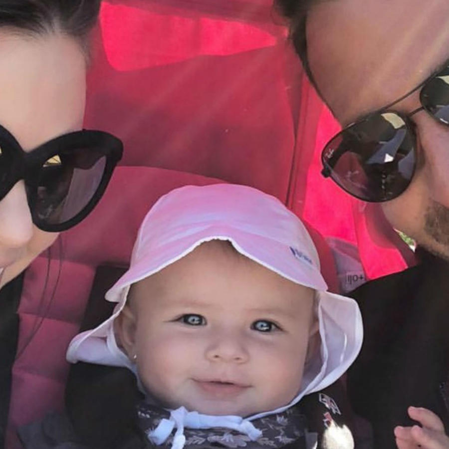 Ximena Duque con su familia