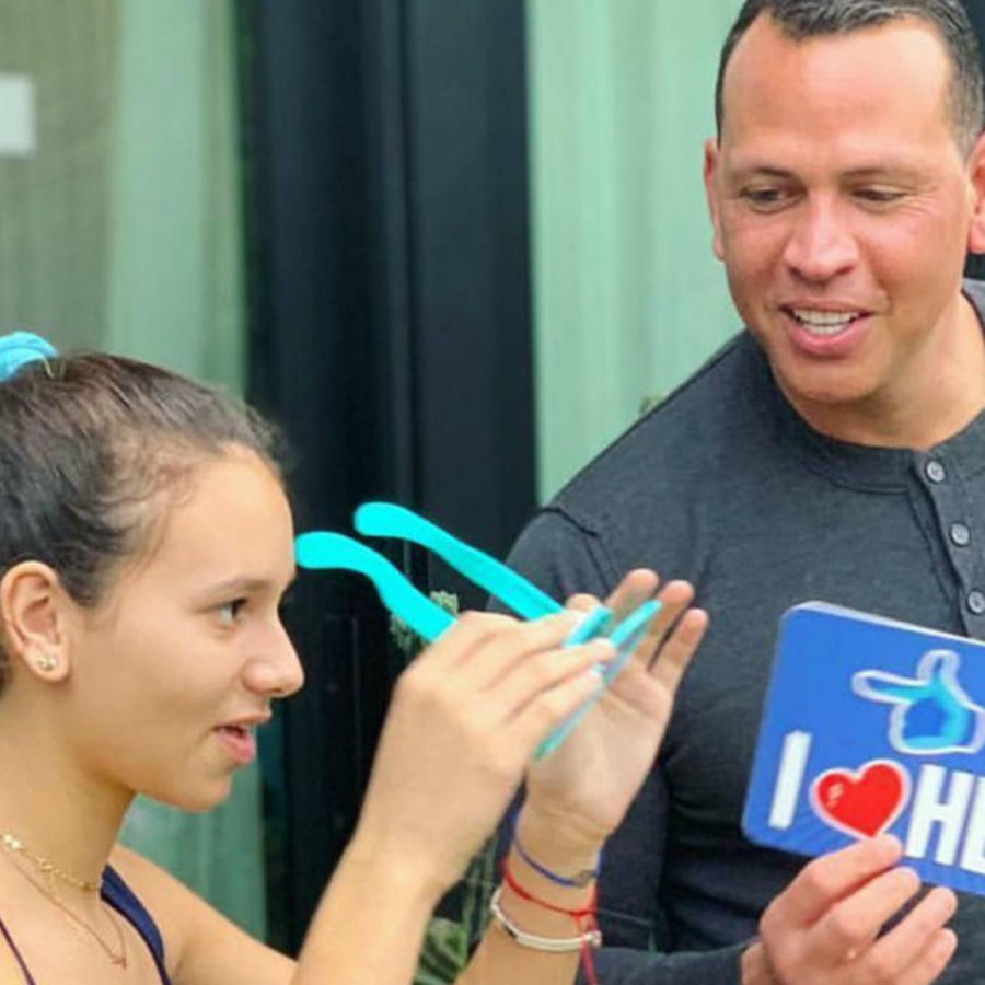 Alex Rodriguez con Tashie